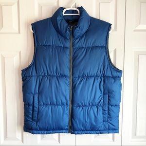 Old Navy Men's Blue Puffer Vest Jacket Size Large